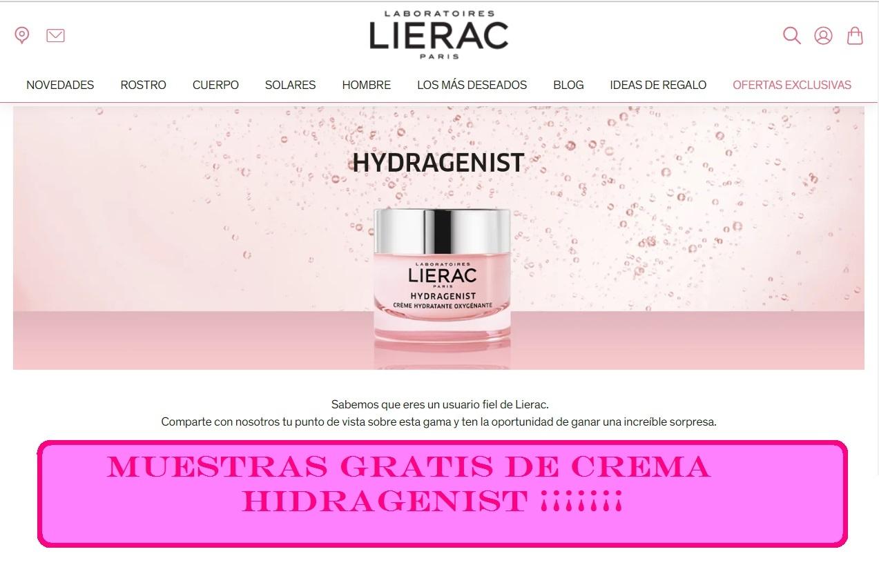 muestras gratis de crema Hidragenist